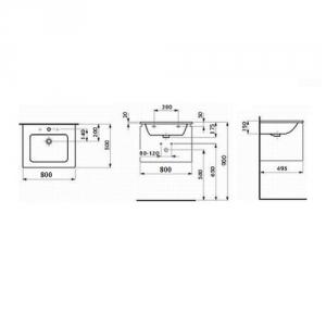 Мебель для ванной комнаты Laufen Pro S 80 см.