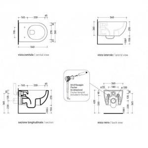 Унитаз подвесной Flaminia APP Goclean (безободковий)
