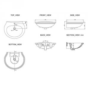 Раковина подвесная в комплекте с колонной Primera ANTIQUE