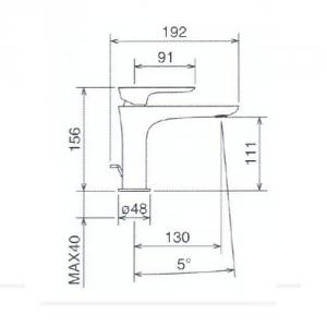 Смеситель для раковины в комплекте со сливом La Torre LAGHI