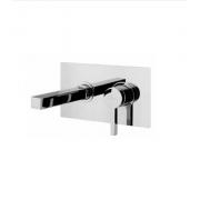 Смеситель для раковины монокомандный со стены Alpi SOLO хром