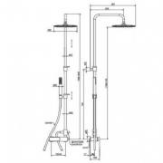 Душевой комплект механический внешний 2-х функциональный  La Torre LAGHI