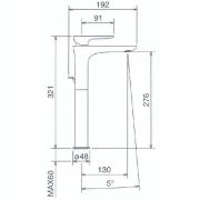 Смеситель для раковины высокий в комплекте со сливом La Torre LAGHI